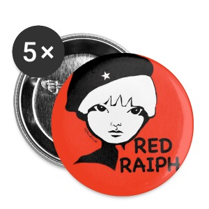 Red Raiph Badj - Buttons small 25 mm