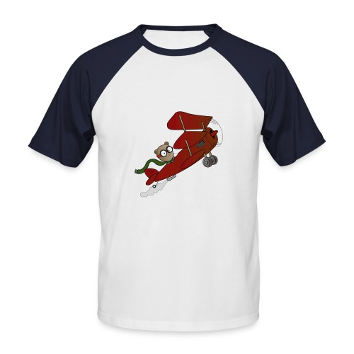 Teddy Biplane Baseball Tee - Men's Baseball T-Shirt