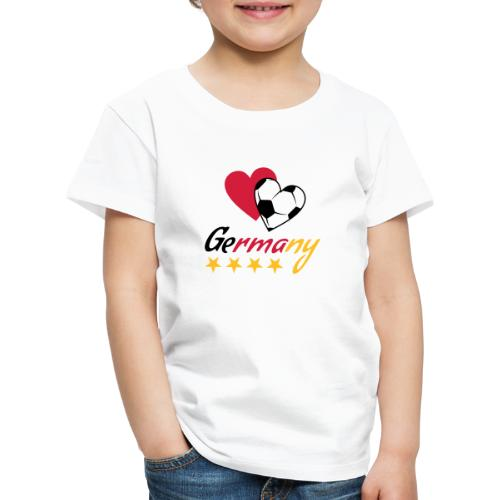 Kinder T-Shirt Fußball Herzen Germany - Kinder Premium T-Shirt