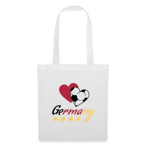 Stoffbeutel Fußball Herzen Germany - Stoffbeutel