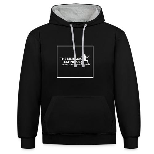 MTI Hoodie Grey-Black Ver 2 - Contrast Colour Hoodie