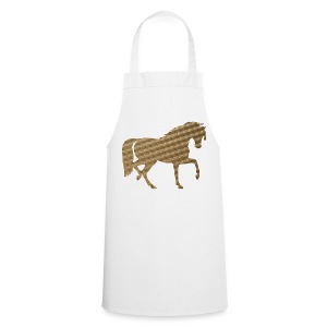 Horse in Brown Squares - Cooking Apron