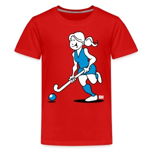 Hockey-Mädchen T-Shirts - Teenager Premium T-shirt