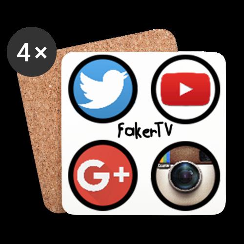FakerTV Social Networks - Untersetzer 4er Pack - Untersetzer (4er-Set)