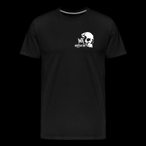 WK Antisocial Männer T-Shirt (weiss) - Männer Premium T-Shirt