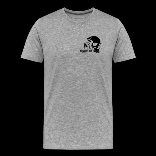 WK Antisocial Männer T-Shirt (schwarz) - Männer Premium T-Shirt