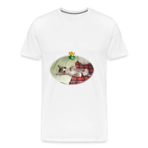 Mens T-Shirt with Lucy - Men's Premium T-Shirt