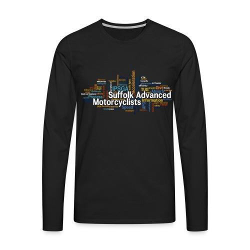 SAM Long Sleeved Shirt with Keyword Cloud - Men's Premium Longsleeve Shirt