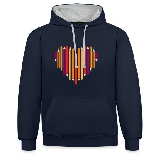 (He)Art Hoodie - Contrast Colour Hoodie