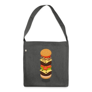 Isometric Burger Tower T-Shirts - Tragetasche Tote - Shoulder Bag made from recycled material