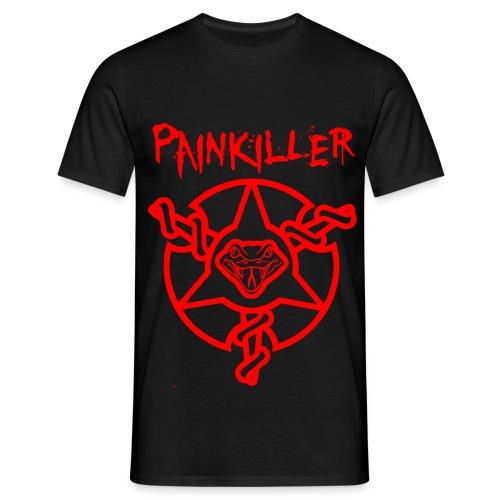 Mens Painkiller Title T-Shirt Black - Men's T-Shirt