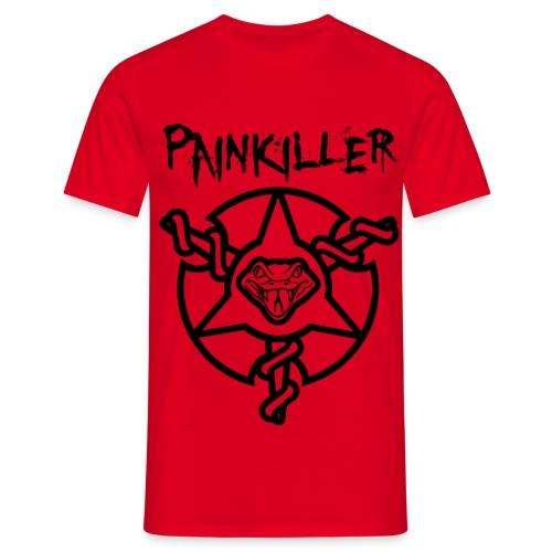 Mens Painkiller Title T-Shirt Red - Men's T-Shirt