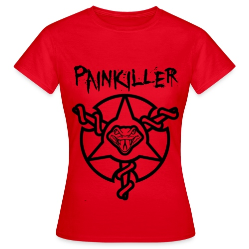 Ladies Painkiller Title T-Shirt Red - Women's T-Shirt