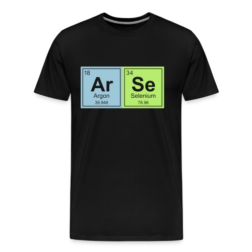 Geeky ARSE Periodic Elements - Men's Premium T-Shirt
