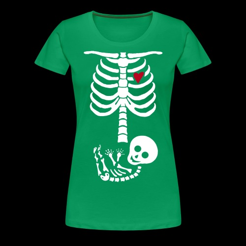 US Version Baby Skelett Schwangerschafts Shirt ROT - Frauen Premium T-Shirt