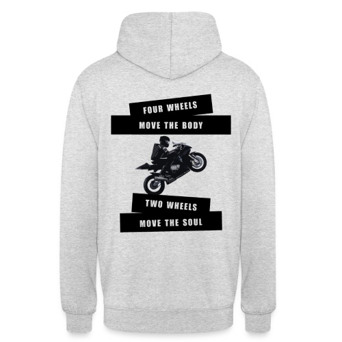 4 WHEELS 2 WHEELS - Pullover | Ladies&Men - Unisex Hoodie