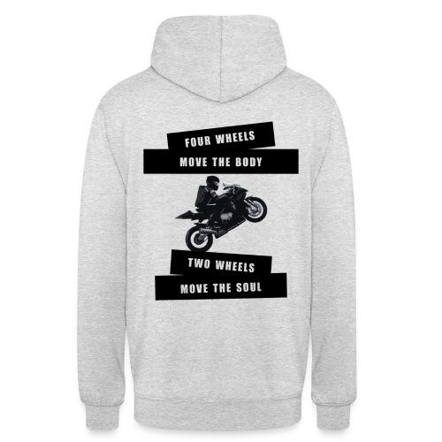 4 WHEELS 2 WHEELS - Pullover   Ladies&Men - Unisex Hoodie