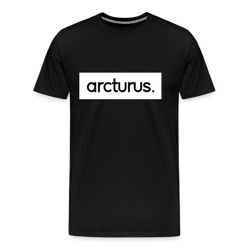 Arcturus. White Logo T-Shirt - Men's Premium T-Shirt