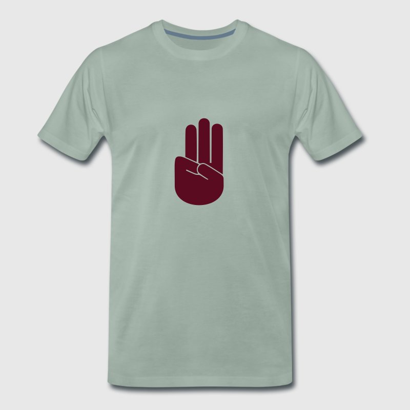 Scout sign and salute T-Shirts - Men's Premium T-Shirt