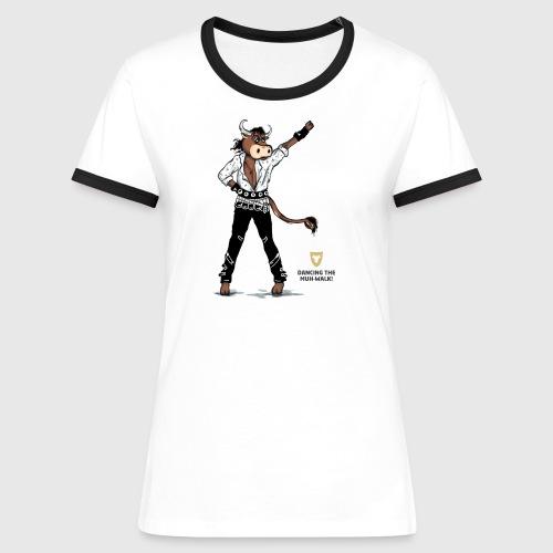 Kontrast Shirt, Damen – Dancing Ox - Frauen Kontrast-T-Shirt