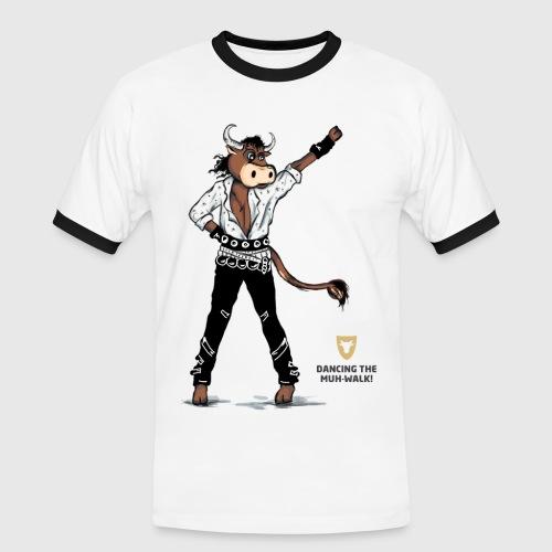 Kontrast Shirt, Herren –Dancing Ox - Männer Kontrast-T-Shirt