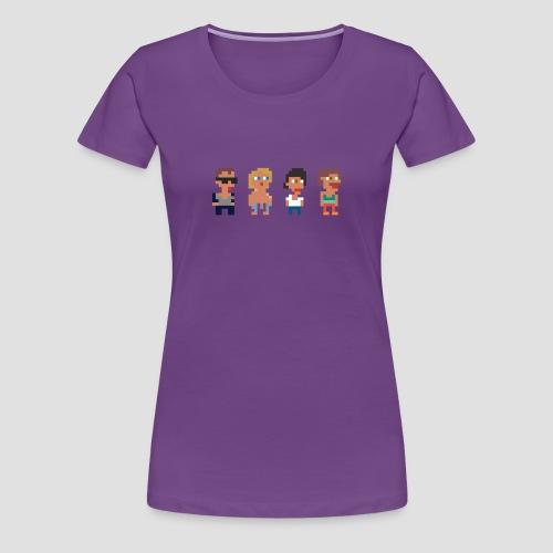 WeSpawn Pixels Svart - Dam - Premium-T-shirt dam