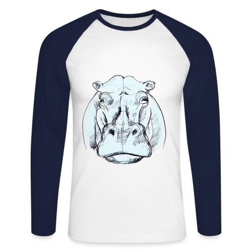 T-Shirt, beschriftet - Männer Baseballshirt langarm