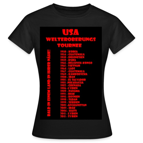 USA Welteroberungs Tournee - Frauen Shirt - Frauen T-Shirt