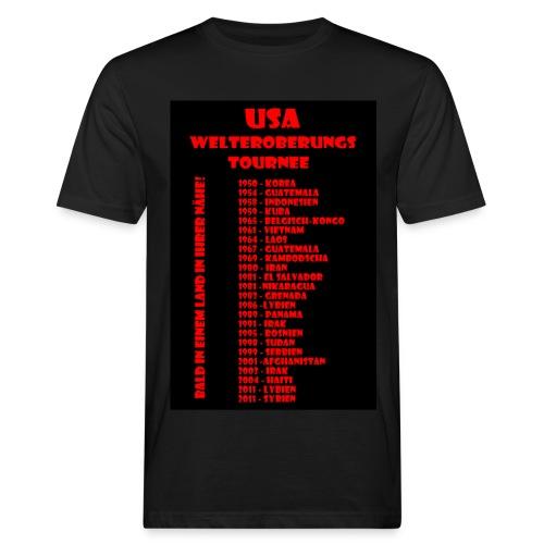 USA Welteroberungs Tournee - Männer Öko Shirt - Männer Bio-T-Shirt