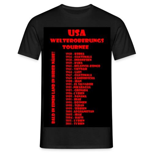 USA Welteroberungs Tournee - Männer Shirt - Männer T-Shirt