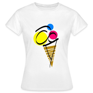 Womens Ice Cream T-Shirt - Women's T-Shirt