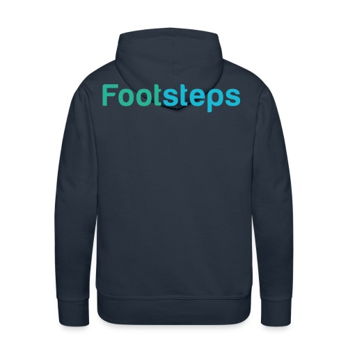 Footsteps Casual Pullover - Männer Premium Hoodie