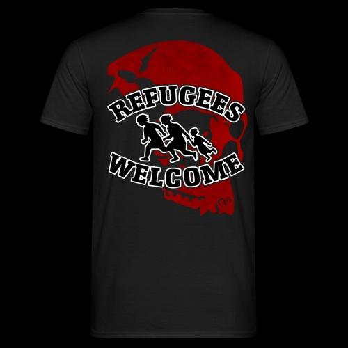 WK Antisocial T-Shirt Refugees Welcome (rot) - Männer T-Shirt