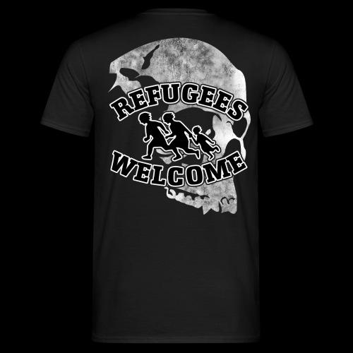 WK Antisocial T-Shirt Refugees Welcome (weiss) - Männer T-Shirt