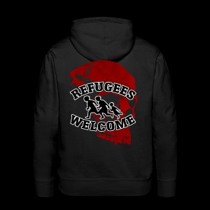 WK Antisocial Kapuzenpullover Refugees Welcome (rot) - Männer Premium Hoodie