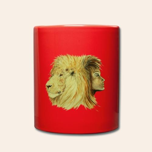 Tasse einfarbig Löwenfrau - Tasse einfarbig