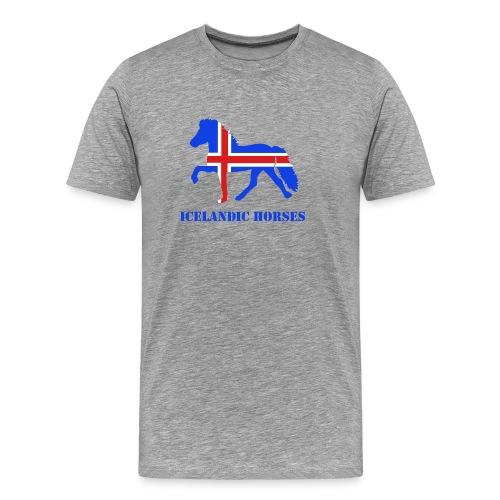 hest med flag - Herre premium T-shirt