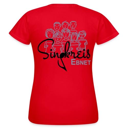Singkreis Damen-T-Shirt rot - Frauen T-Shirt