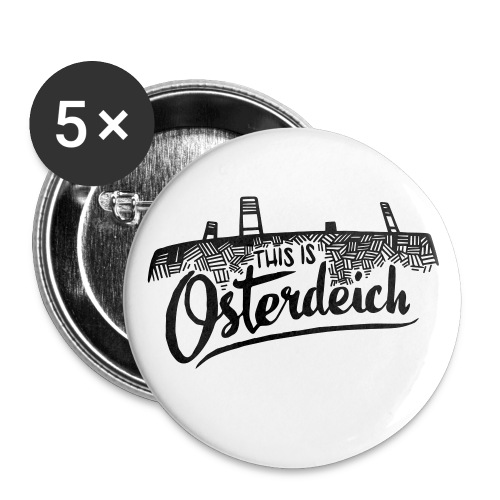This is Osterdeich - Buttons klein 25 mm