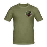 T-Shirts ~ Männer Slim Fit T-Shirt ~ Vater des Erfolgs (green)