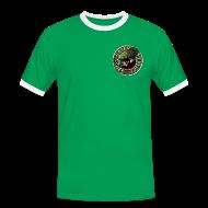 T-Shirts ~ Männer Kontrast-T-Shirt ~ Vater des Erfolgs (green)