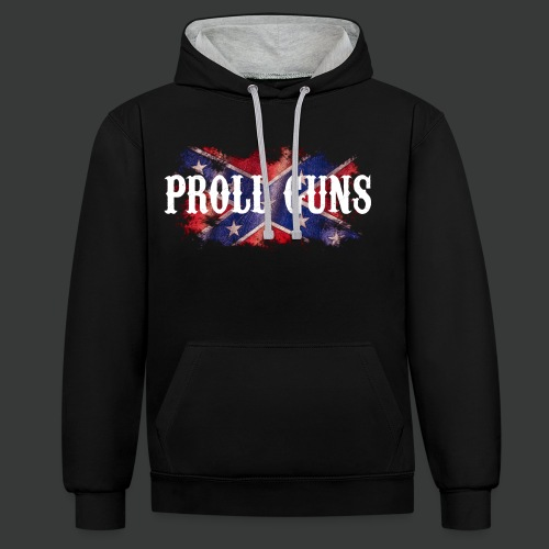 Proll Guns - Western Flag - Kontrast-Hoodie
