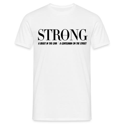 STRONG Gentleman Classic T-Shirt Weiß - Männer T-Shirt