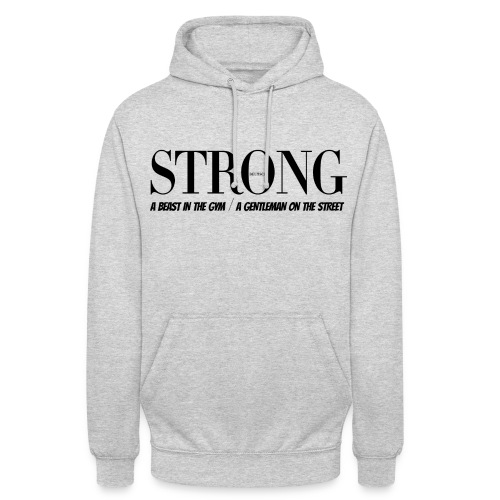 STRONG Gentleman Sweater Grau Melange - Unisex Hoodie