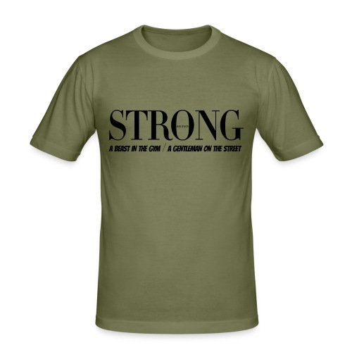 STRONG Gentleman T-Shirt - Männer Slim Fit T-Shirt