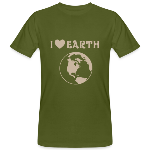 Ecologic T-shirt I Love Earth Men - Men's Organic T-Shirt