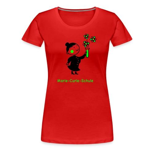 Frauen Premium T-Shirt Marie-Curie-Schule (rot) - Frauen Premium T-Shirt
