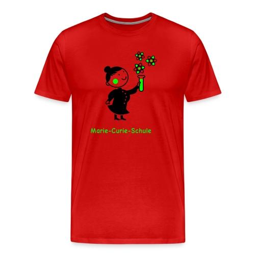 Männer Premium T-Shirt Marie-Curie-Schule (rot) - Männer Premium T-Shirt
