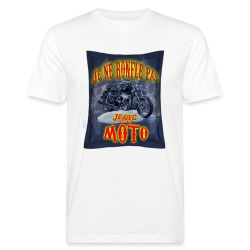 Je ne ronfle pas, je rêve que je suis une moto - T-shirt bio Homme