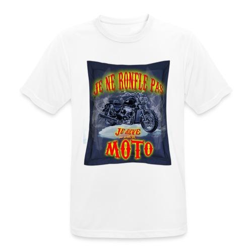 Je ne ronfle pas, je rêve que je suis une moto - T-shirt respirant Homme